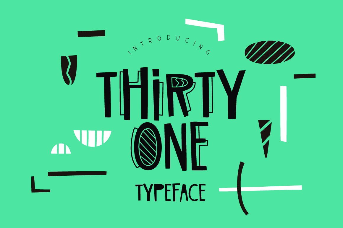 Print on Demand: Thirty One Display Font By ChekArt