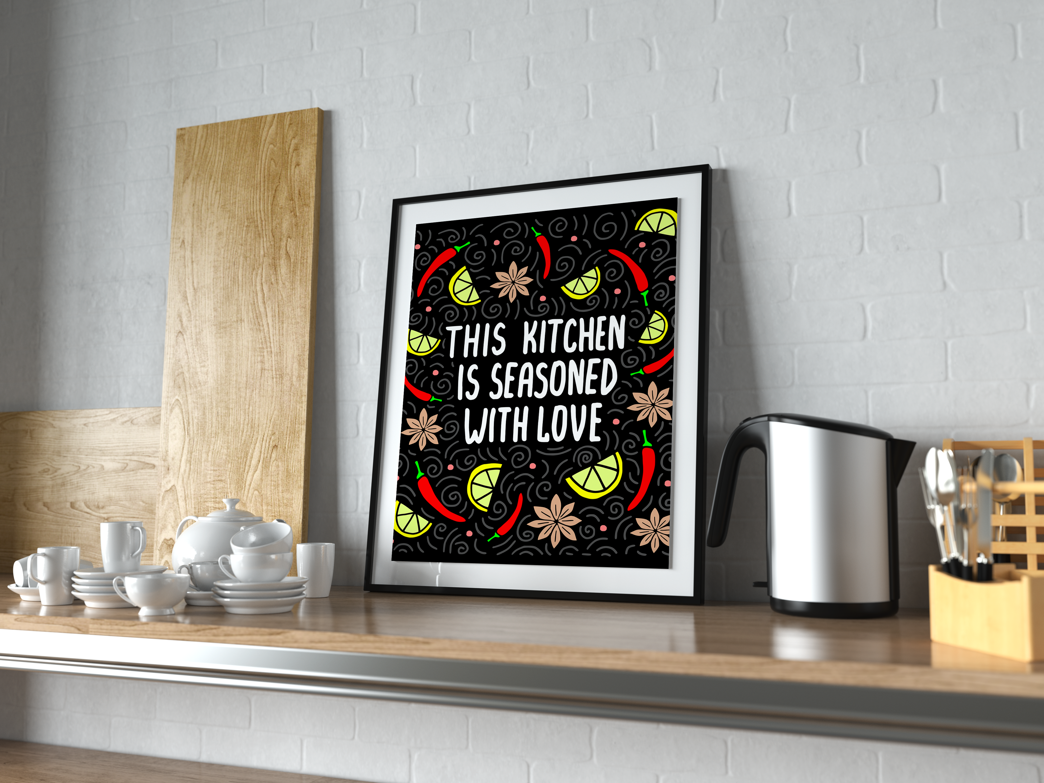This Kitchen is Seasoned with Love SVG Graphic Crafts By CrystalGiftsStudio - Image 3