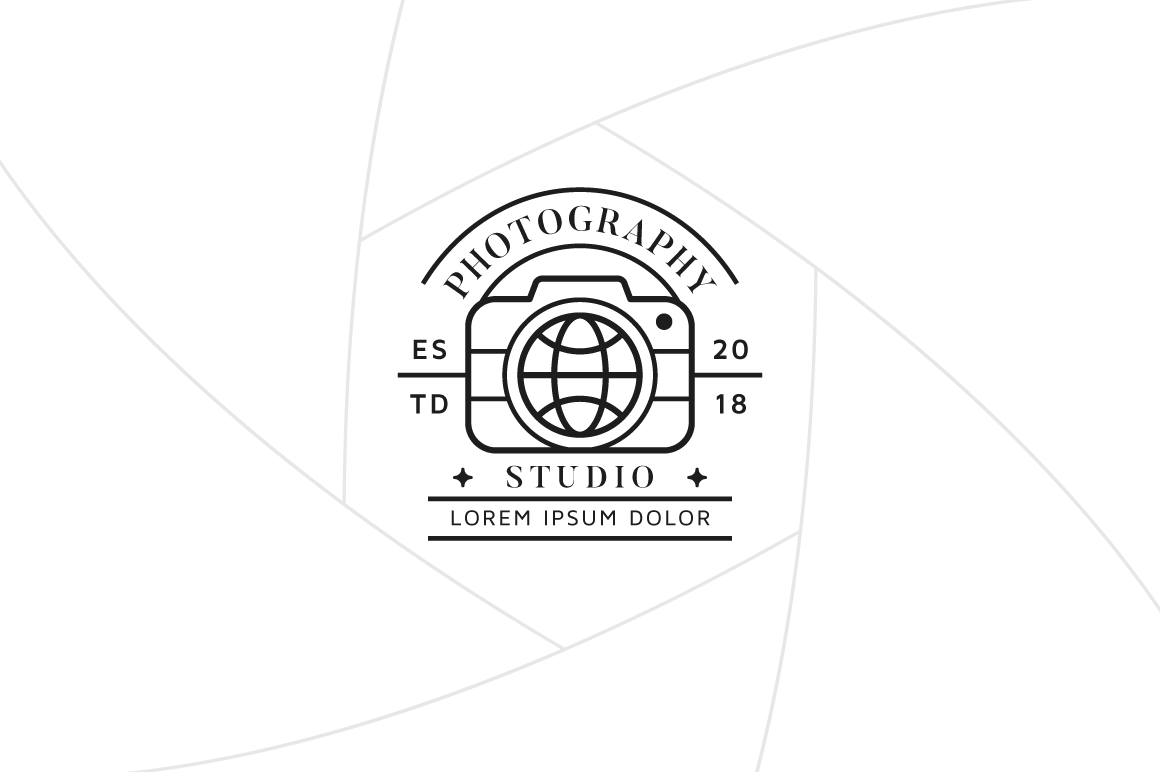 Travel Photography Logo Template Graphic