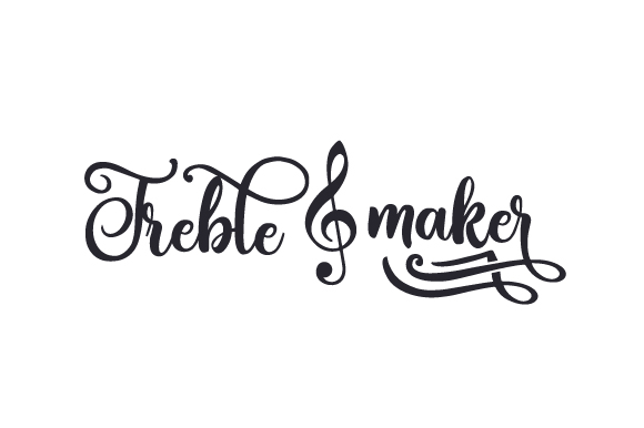 Treble Maker Music Craft Cut File By Creative Fabrica Crafts