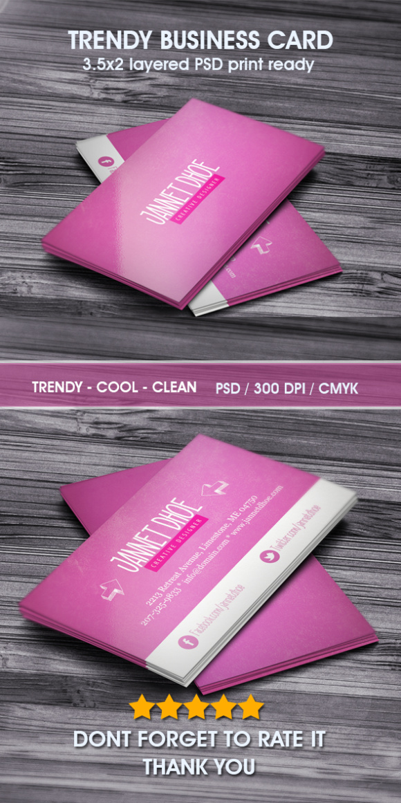 Trendy business card Graphic by Hustletter - Creative Fabrica
