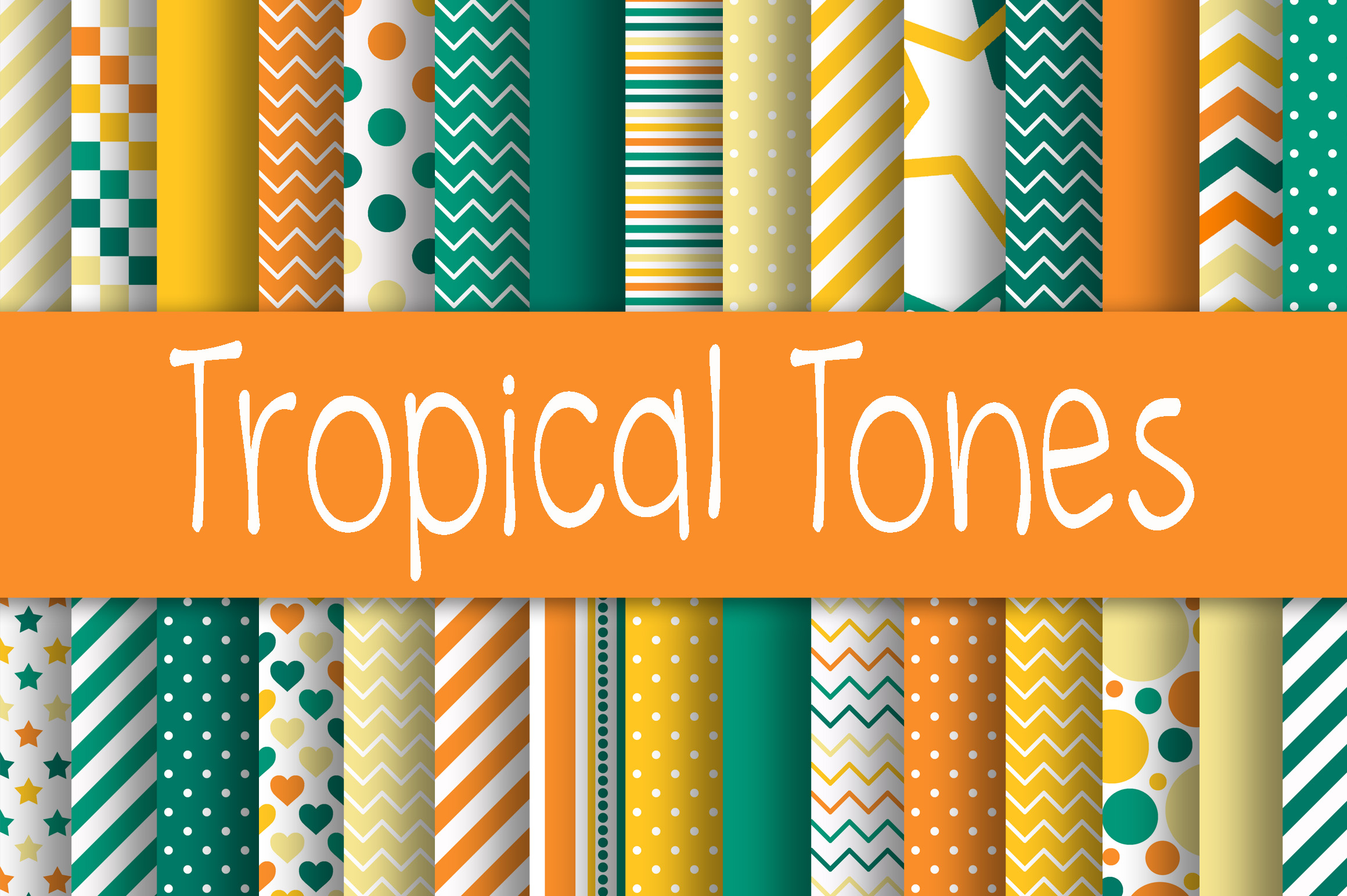 Tropical Tones Digital Paper Graphic Backgrounds By oldmarketdesigns