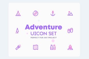 Download Free Uicon Adventure Icons Graphic By Kurt Kurt Creative Fabrica for Cricut Explore, Silhouette and other cutting machines.