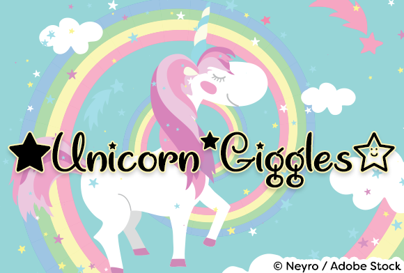 Print on Demand: Unicorn Giggles Script & Handwritten Font By Misti