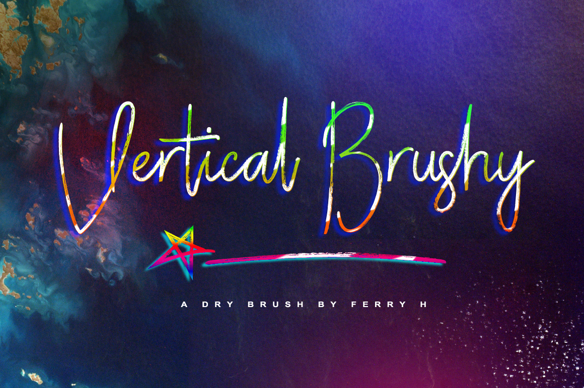 Print on Demand: Vertical Brushy Script & Handwritten Font By feydesign