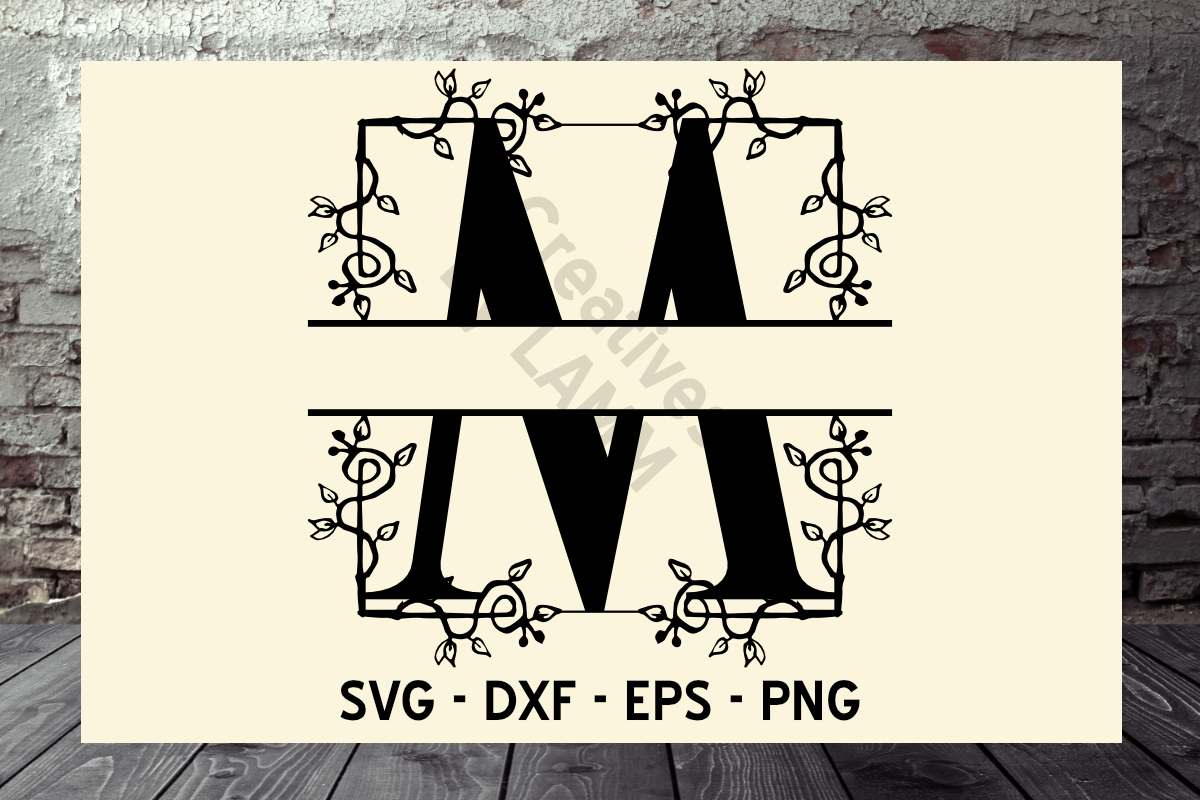 Download Free Vine Alphabet Split Monograms Grafico Por Creatives By Lamm for Cricut Explore, Silhouette and other cutting machines.