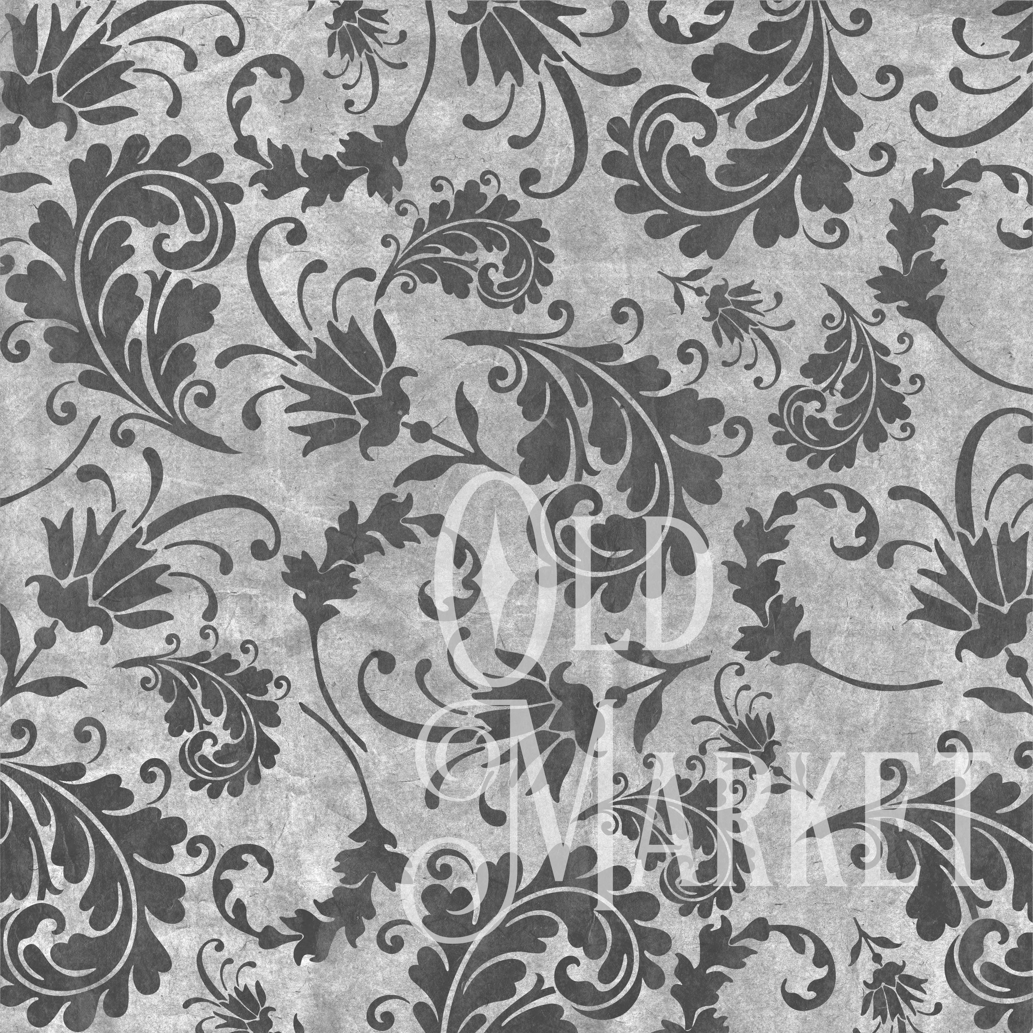 Vintage Black Digital Paper Graphic By oldmarketdesigns Image 2