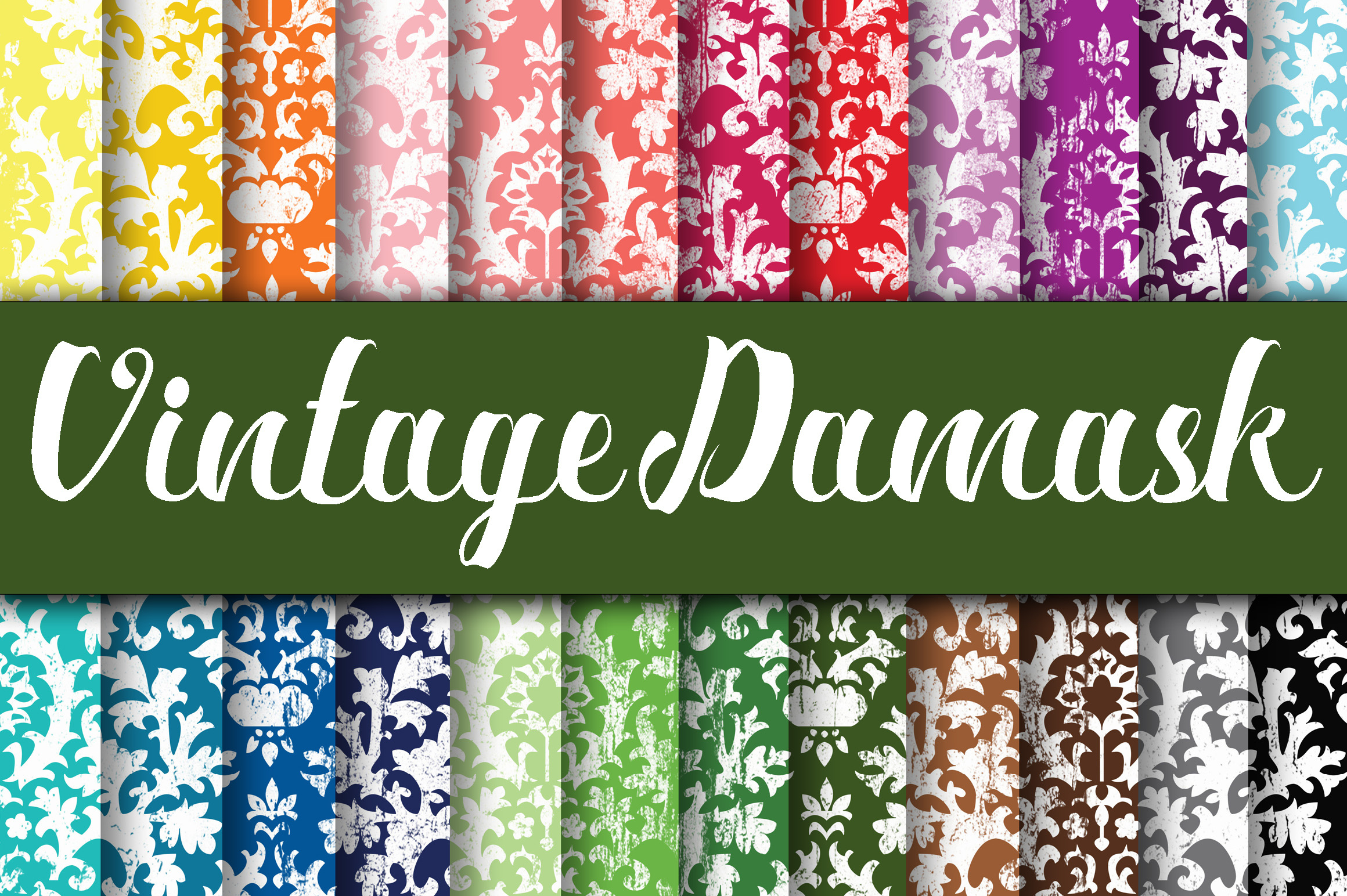 Download Free Vintage Damask Digital Papers Graphic By Oldmarketdesigns for Cricut Explore, Silhouette and other cutting machines.