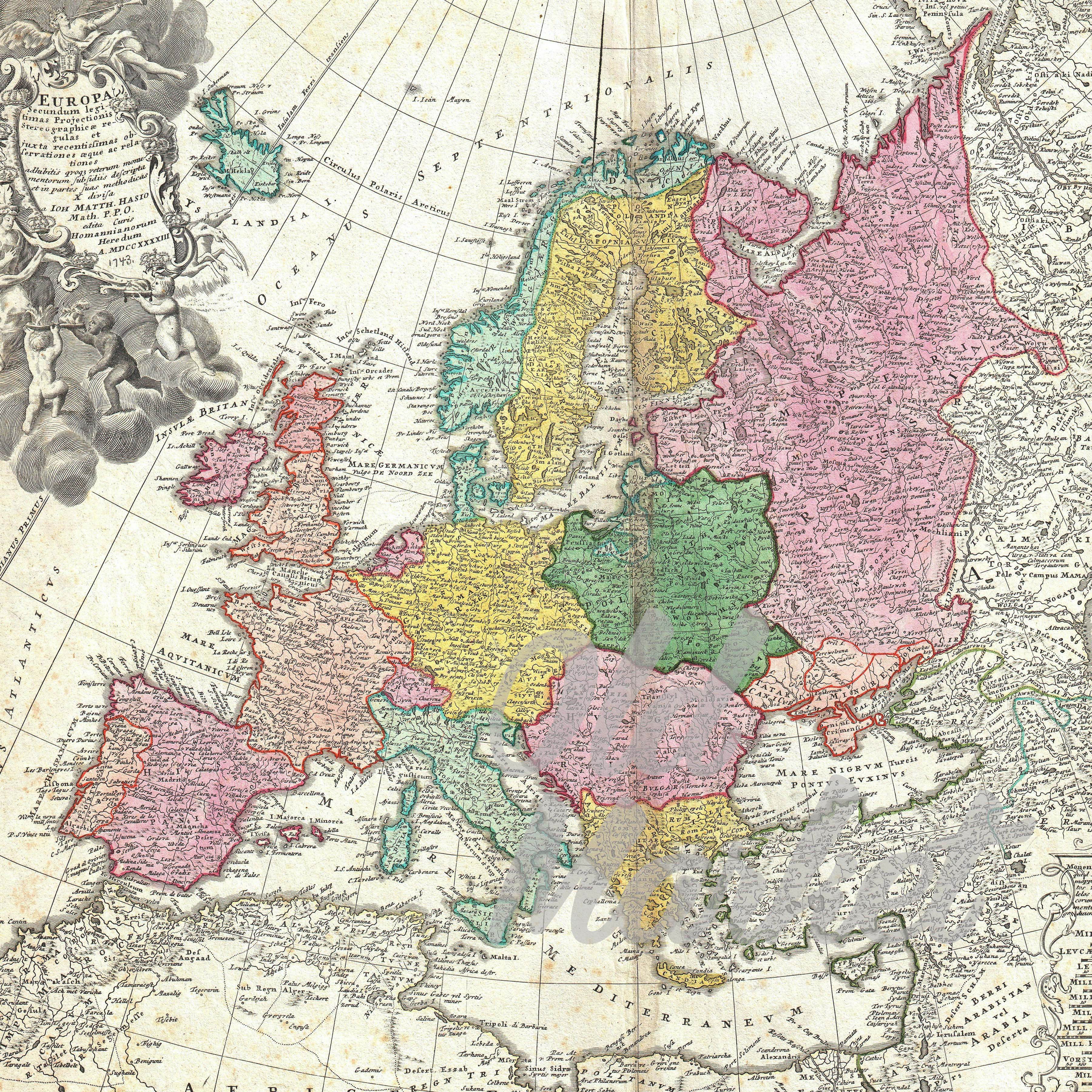 Vintage Maps of Europe Digital Paper Graphic Backgrounds By oldmarketdesigns - Image 3