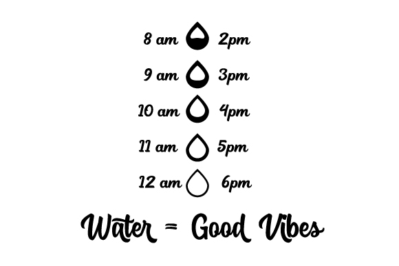 Water = Good Vibes | Track Your Water Designs & Drawings Craft Cut File By Creative Fabrica Crafts