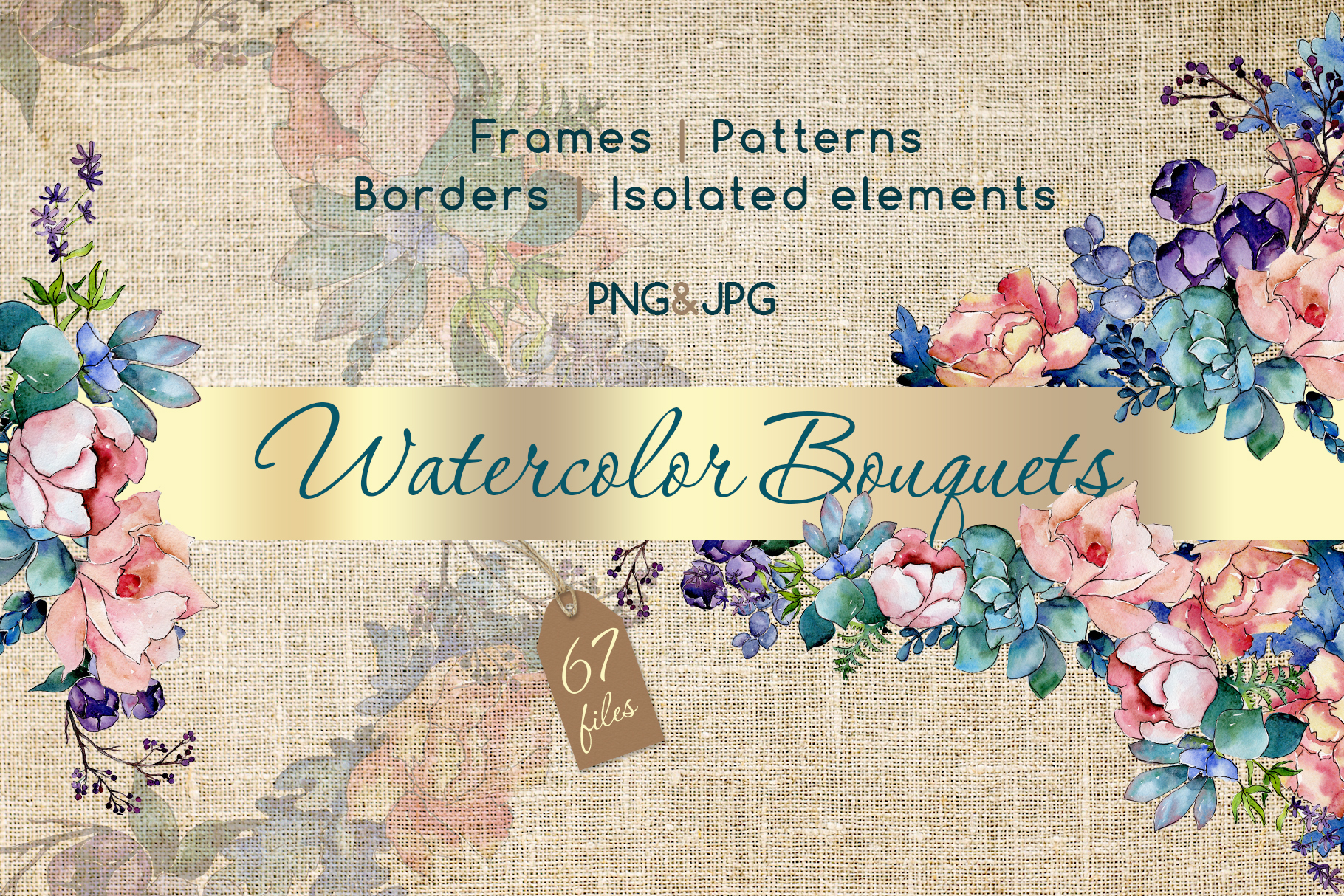 Print on Demand: Watercolor Bouquet Flower Set Graphic Illustrations By MyStocks