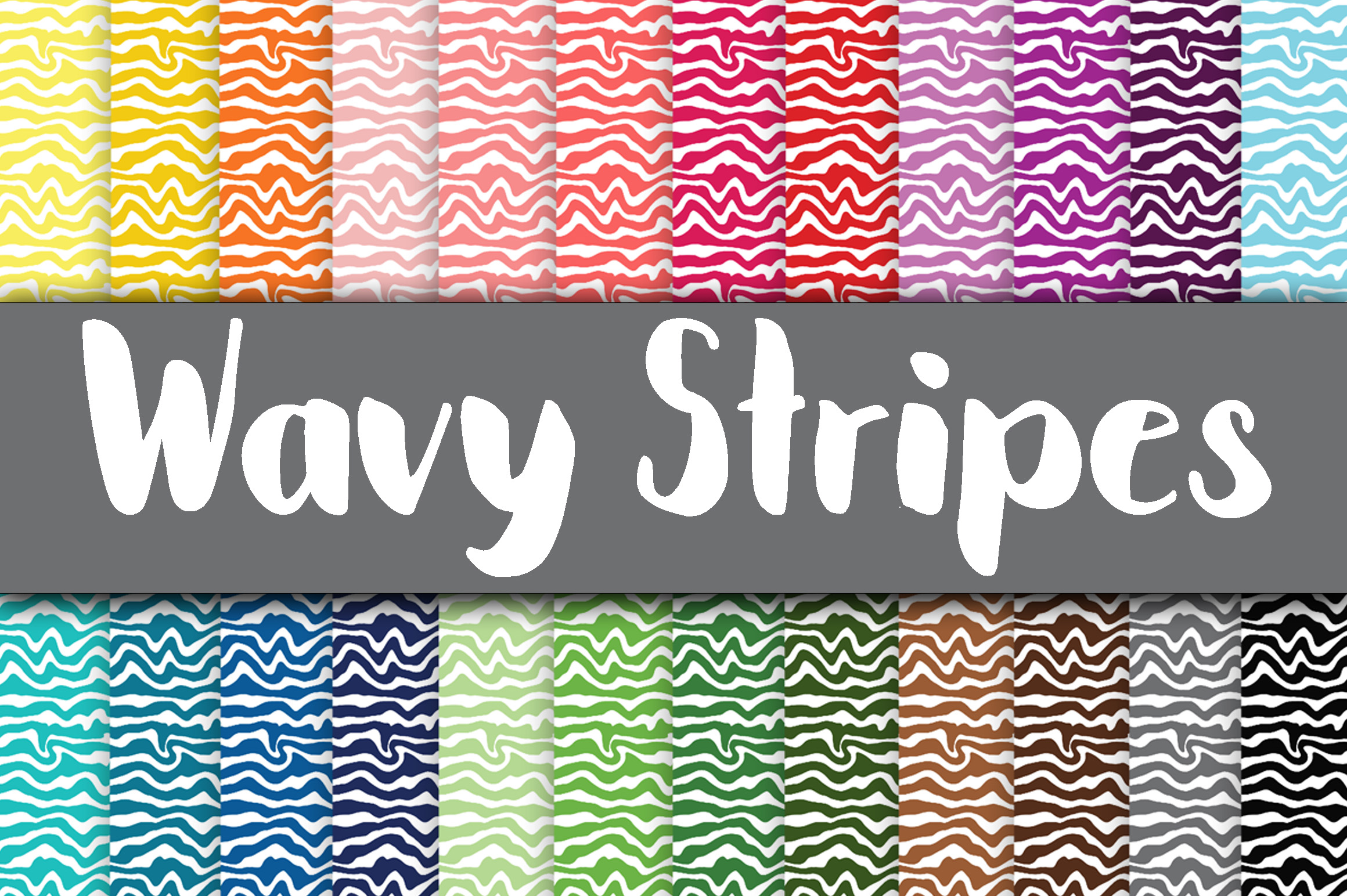 Wavy Stripes Digital Paper Graphic Backgrounds By oldmarketdesigns