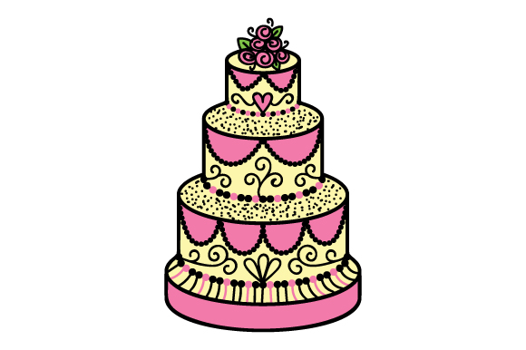 Wedding Cake Svg Cut File By Creative Fabrica Crafts Creative