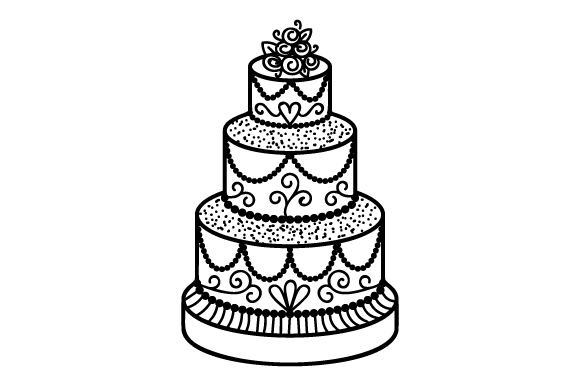 Download Free Wedding Cake Svg Cut File By Creative Fabrica Crafts Creative for Cricut Explore, Silhouette and other cutting machines.