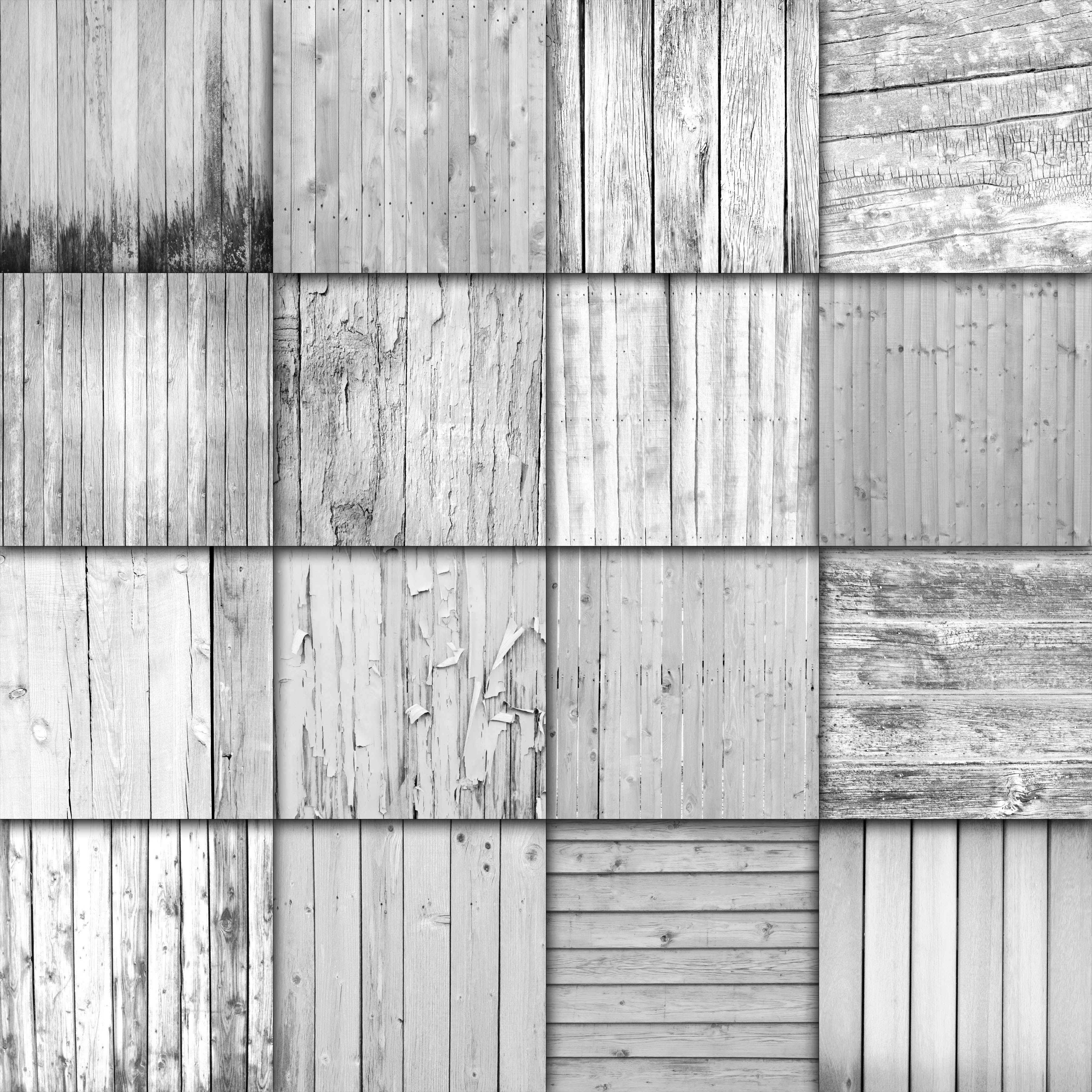 Print on Demand: White Wood Fence Textures Digital Paper Graphic Backgrounds By oldmarketdesigns - Image 2