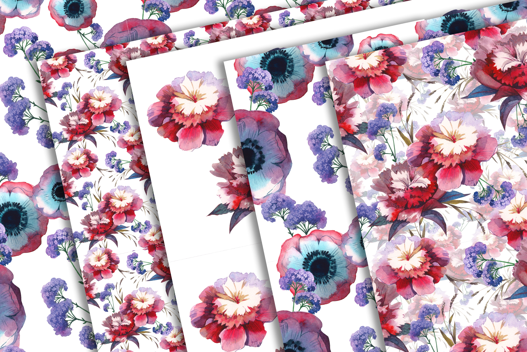 Print on Demand: Wildflowers Watercolor Set Graphic Illustrations By MyStocks - Image 5