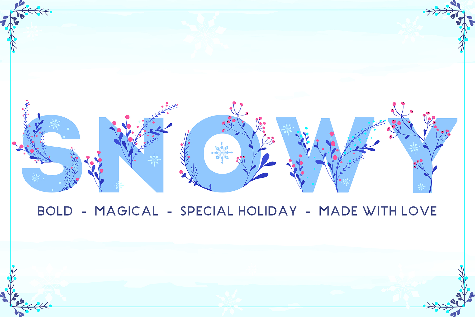 Print on Demand: Winter Color Font Color Fonts Font By Newflix