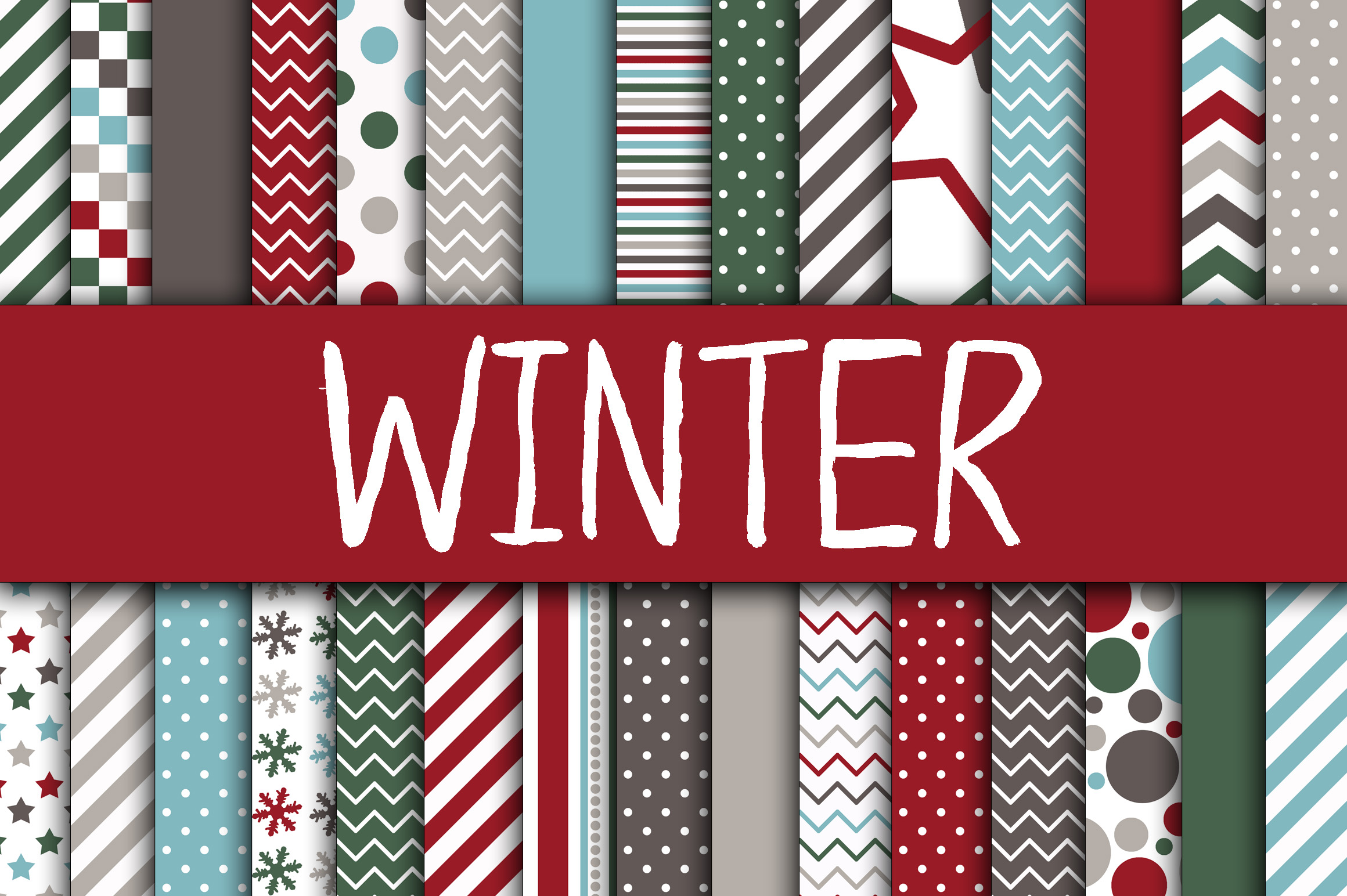 Winter Digital Papers Graphic By oldmarketdesigns Image 1