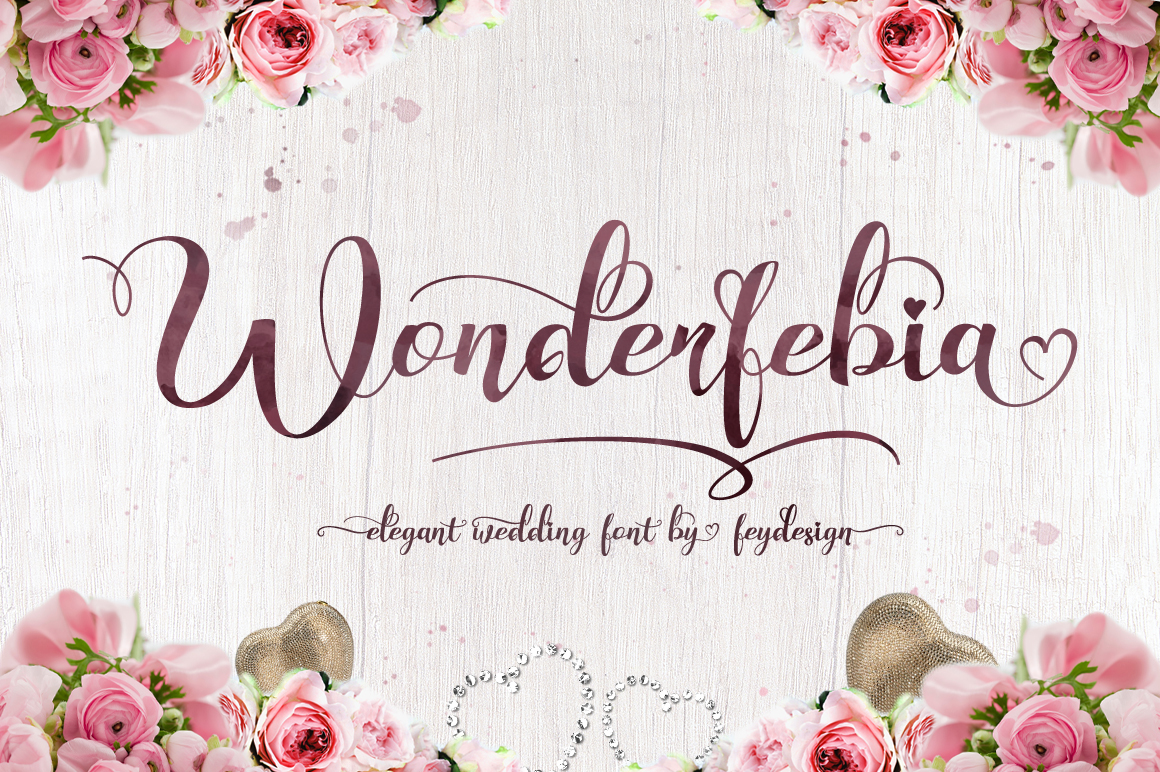 Print on Demand: Wonderfebia Script & Handwritten Font By feydesign