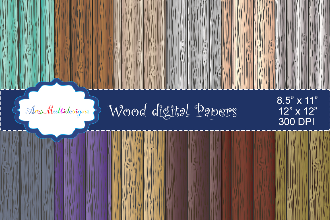 Wood Digital Paper Graphic By Arcs Multidesigns
