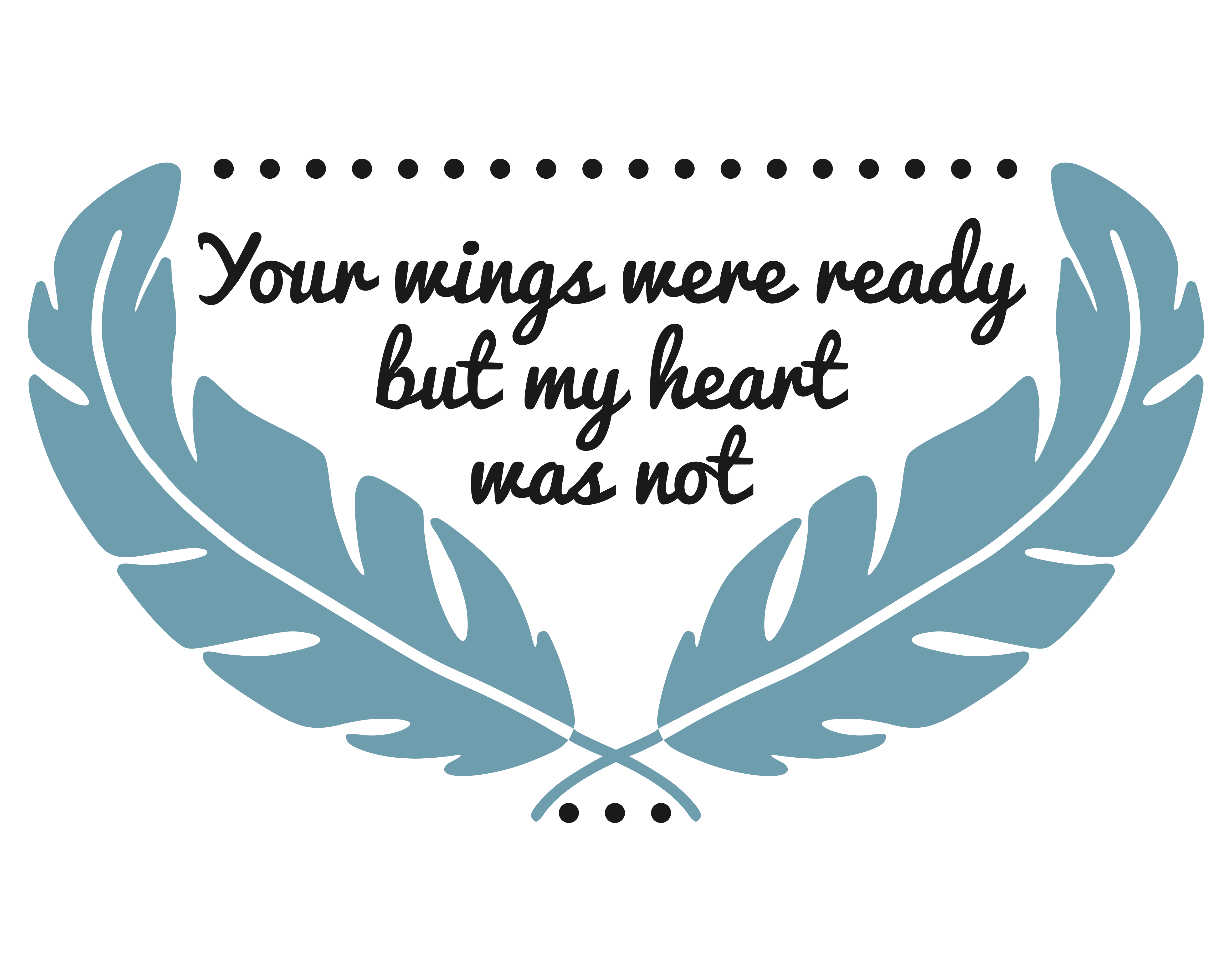 Download Free Your Wings Were Ready Svg Graphic By Crystalgiftsstudio for Cricut Explore, Silhouette and other cutting machines.