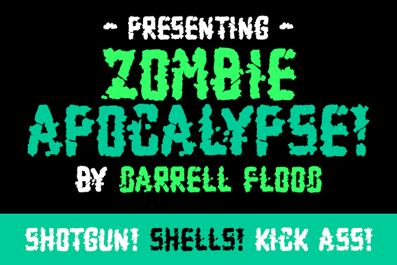 Print on Demand: Zombie Apocalypse Display Font By Dadiomouse