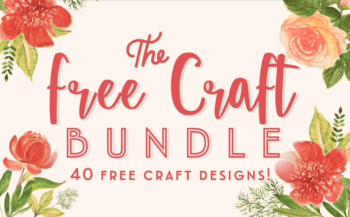Download Free The Free Crafts Bundle Bundle Creative Fabrica for Cricut Explore, Silhouette and other cutting machines.