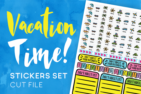 Vacation Planner Sticker Set Planner Craft Cut File By Creative Fabrica Crafts