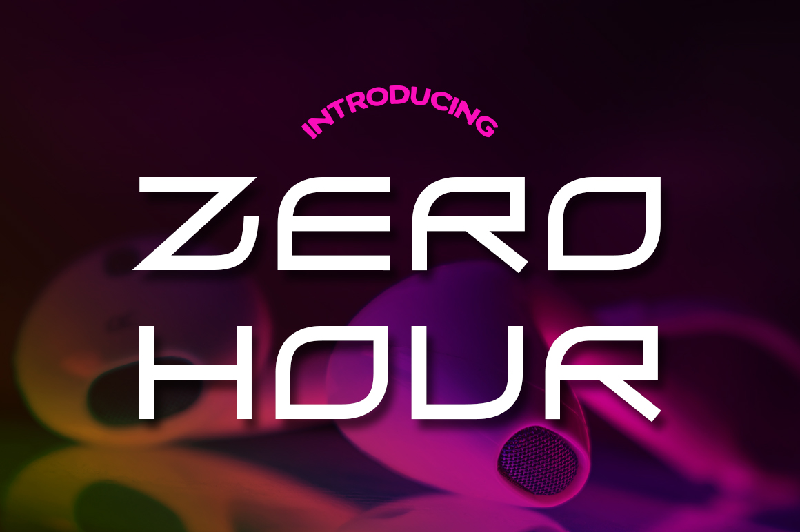 Print on Demand: Zero Hour Font By Typodermic