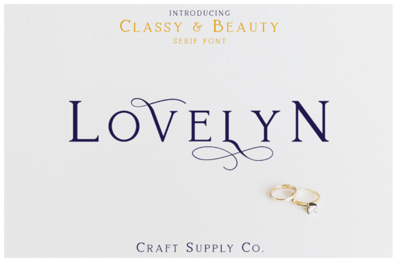 Print on Demand: Lovelyn Serif Font By craftsupplyco