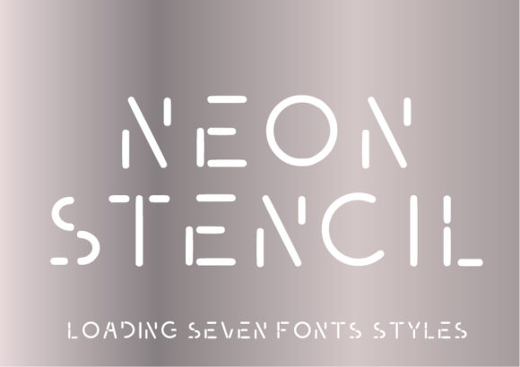 Print on Demand: Neon Stencil Sans Serif Font By GraphicsBam Fonts