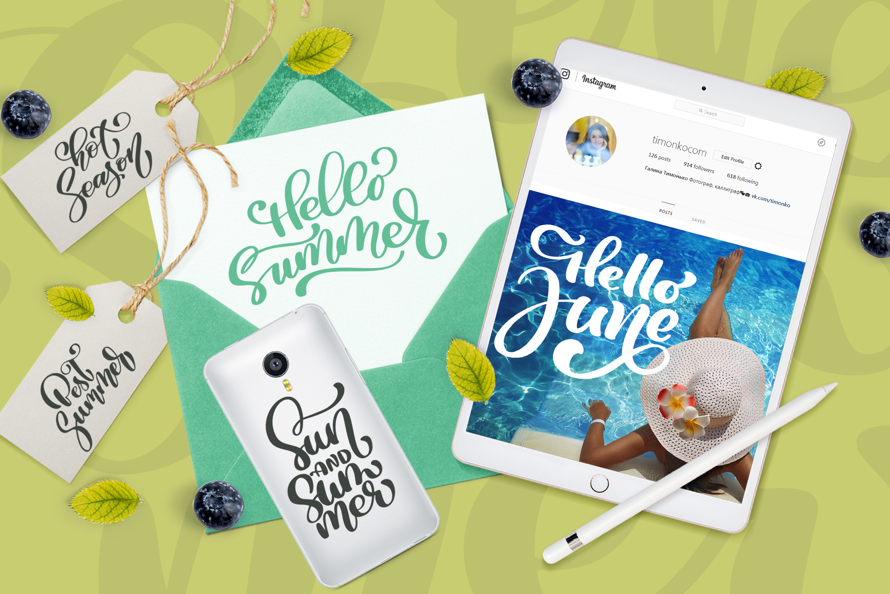 Download Free 36 Calligraphic Summer Phrases Graphic By Happy Letters for Cricut Explore, Silhouette and other cutting machines.