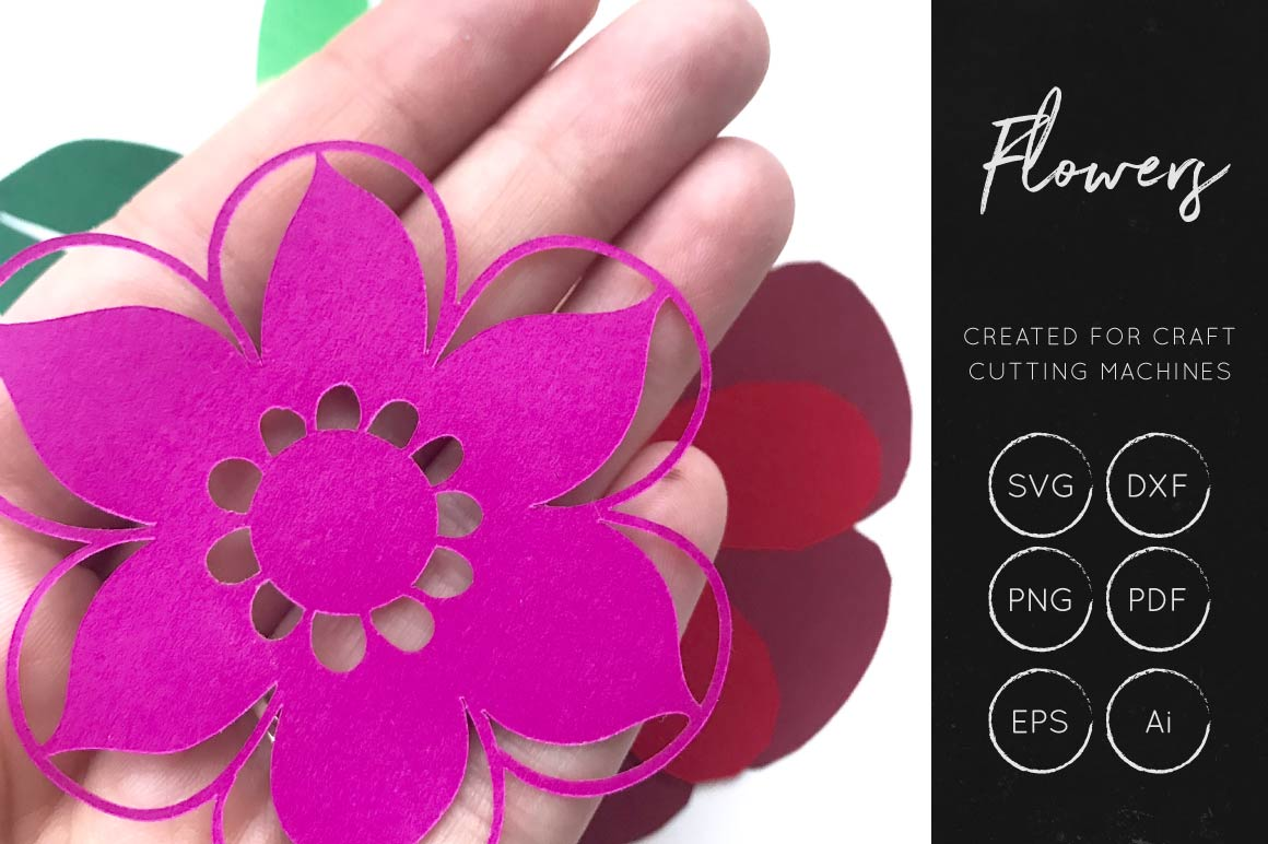 Print on Demand: 3D Flower SVG Cut File Graphic Crafts By illuztrate - Image 2