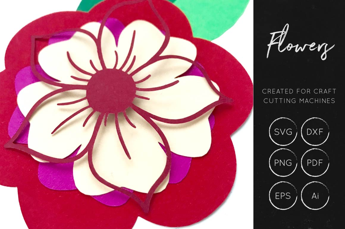 Print on Demand: 3D Flower Cut File Graphic 3D Flowers By illuztrate - Image 2