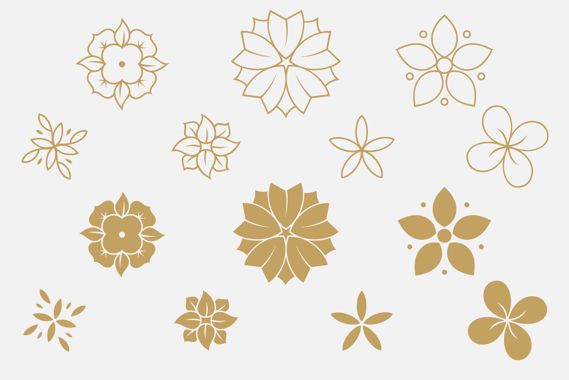 Print on Demand: 7 Flowers and Floral Patterns Graphic Patterns By Roland Hüse Design - Image 3