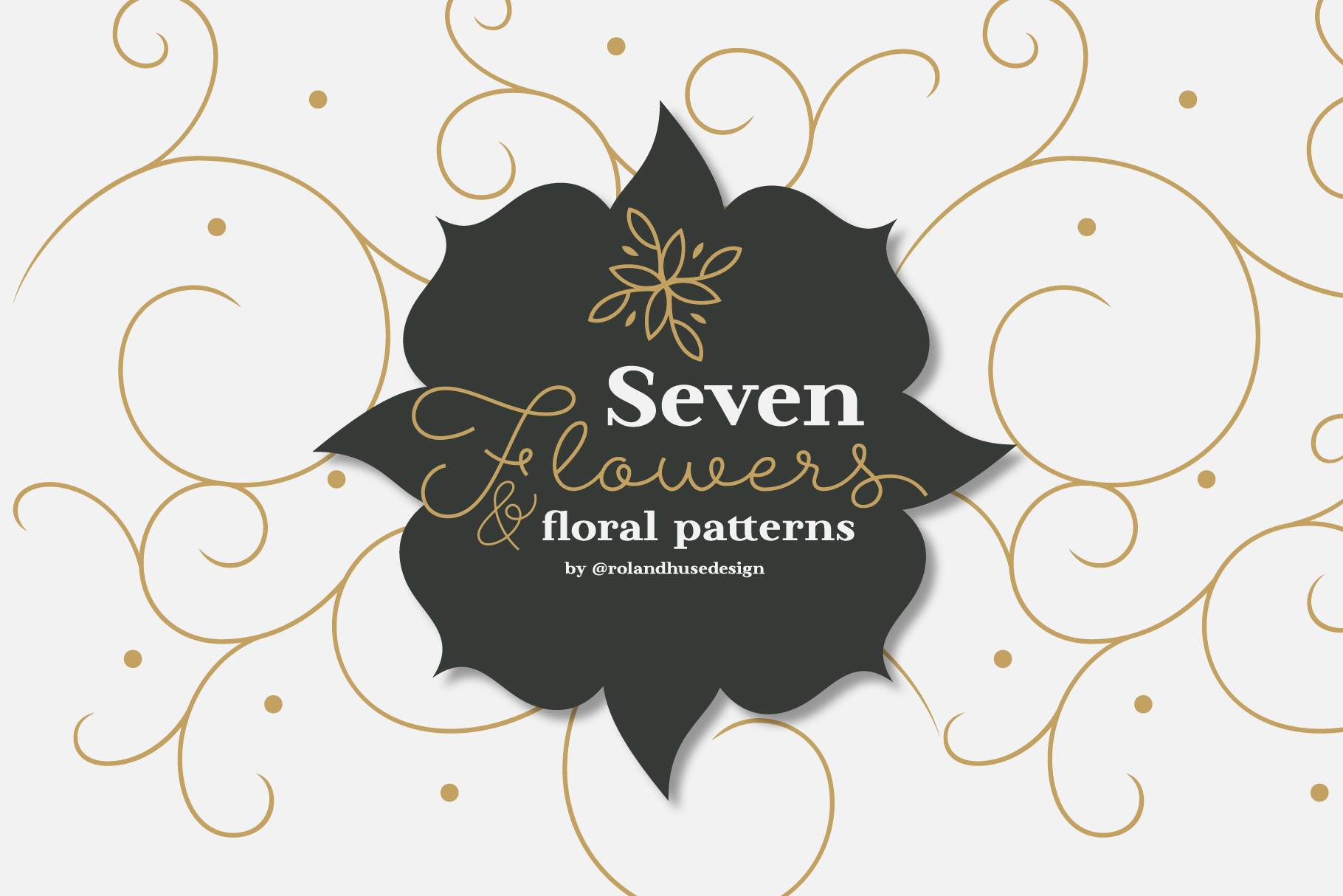 7 Flowers and Floral Patterns Graphic By Roland Hüse Image 1