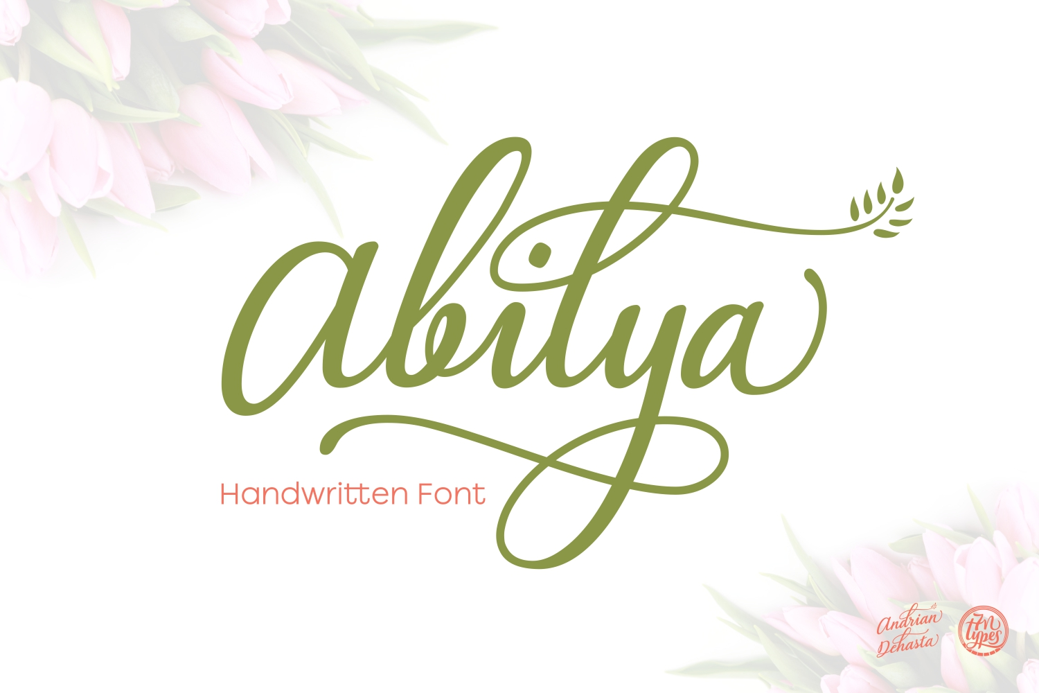 Print on Demand: Abilya Script & Handwritten Font By Andrian Dehasta