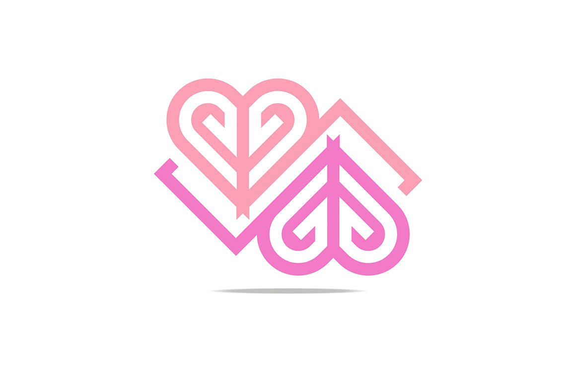 Abstract Letter G Shape Love Combination Design Element Symbol Icon Gráfico Por Acongraphic