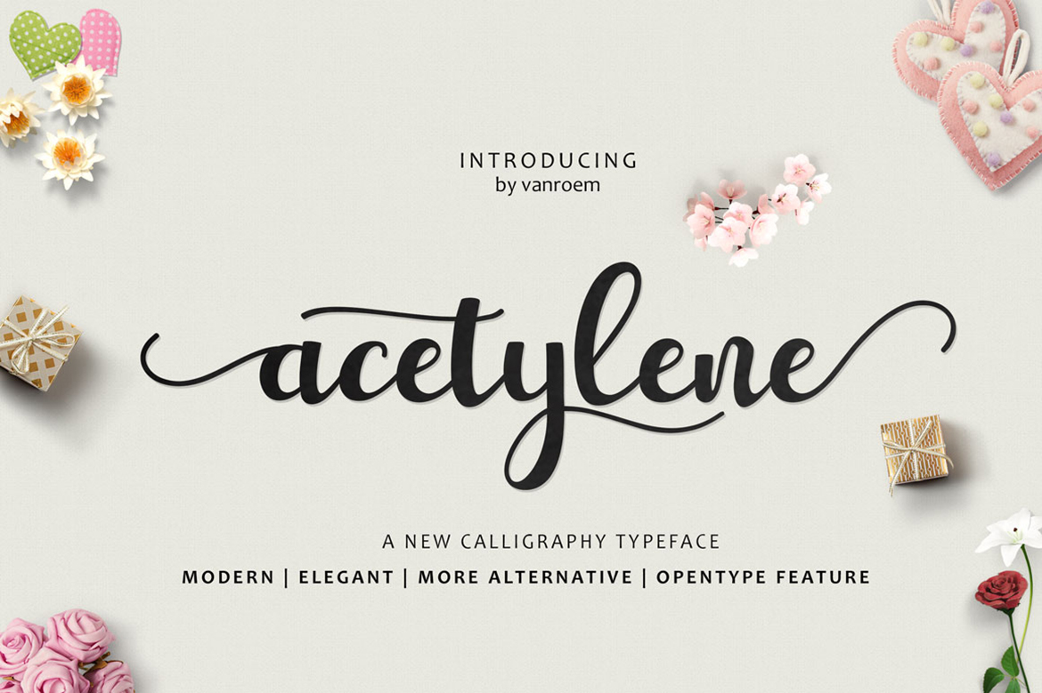 Print on Demand: Acetylene Script Script & Handwritten Font By VanRoem
