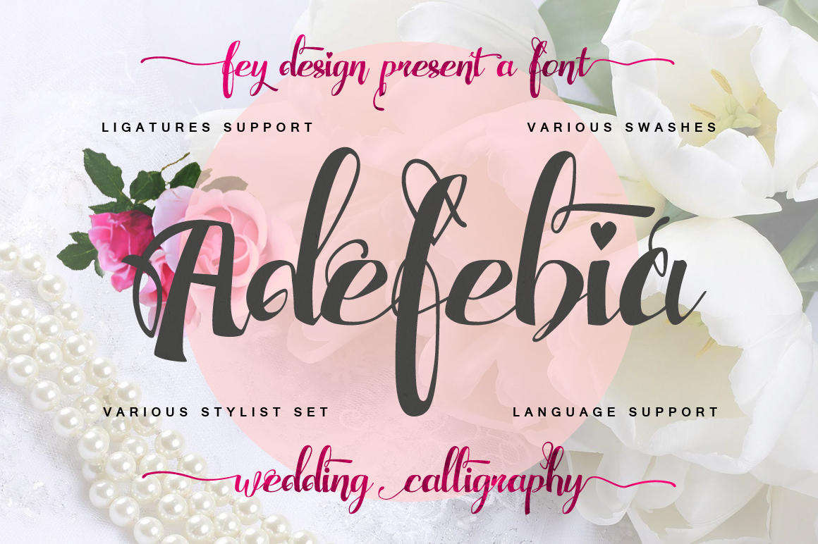 Print on Demand: Adefebia Script & Handwritten Font By feydesign