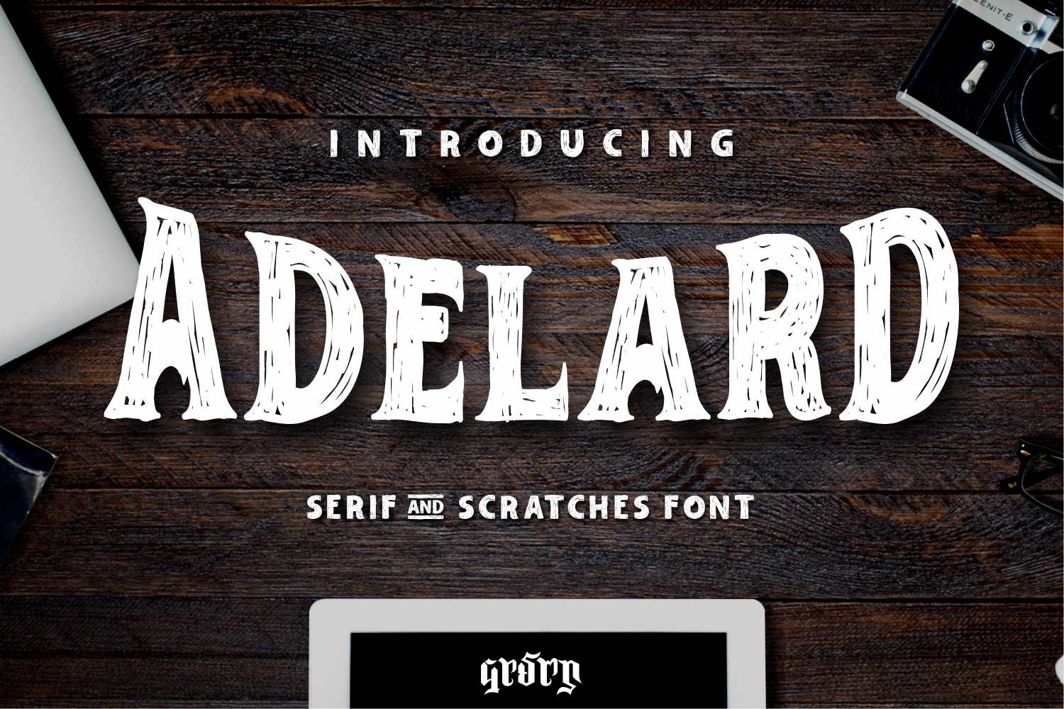 Print on Demand: Adelard Slab Serif Font By Garisman Studio - Image 1