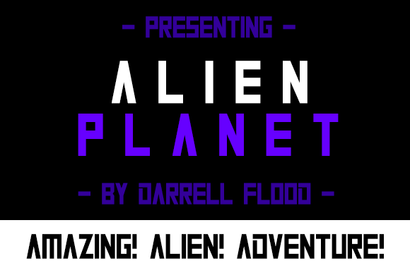 Print on Demand: Alien Planet Display Font By Dadiomouse