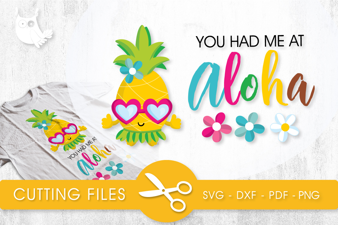 Aloha Pineapple Gráfico Crafts Por PrettyCuttables