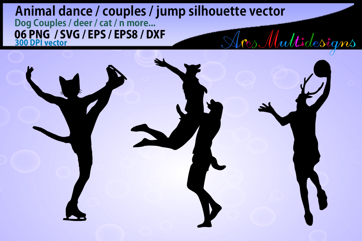 Download Free Animal Dance Svg Graphic By Arcs Multidesigns Creative Fabrica for Cricut Explore, Silhouette and other cutting machines.