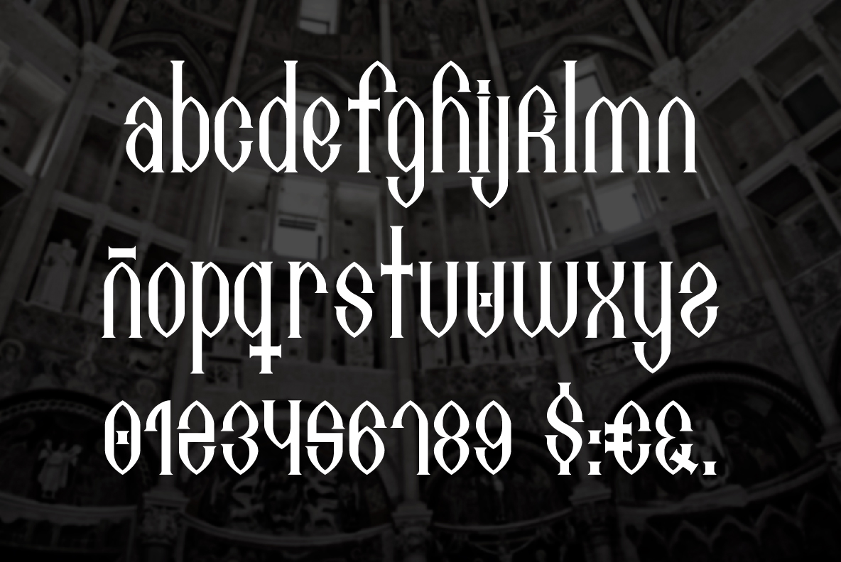Print on Demand: Antelami Blackletter Font By TypEra - Image 3