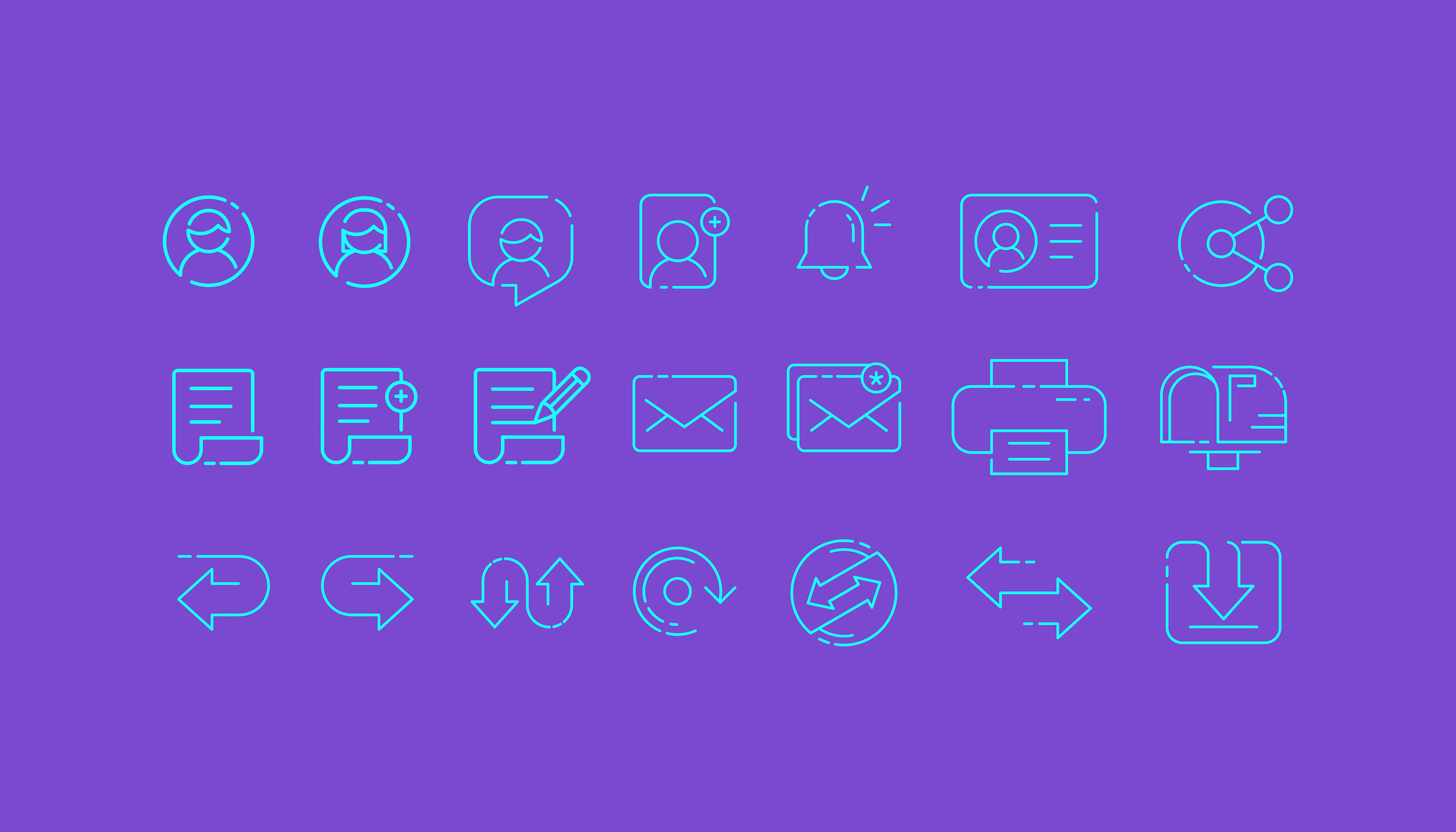 Print on Demand: Application and Web  Iconset Graphic Icons By herbanuts
