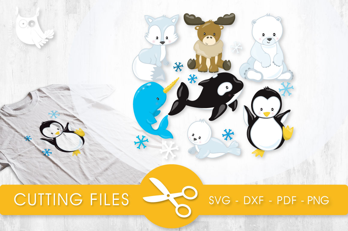 Download Free Arctic Animals Grafico Por Prettycuttables Creative Fabrica for Cricut Explore, Silhouette and other cutting machines.