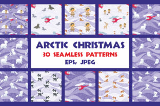 Arctic Christmas Seamless Patterns Set Graphic By Olga Belova