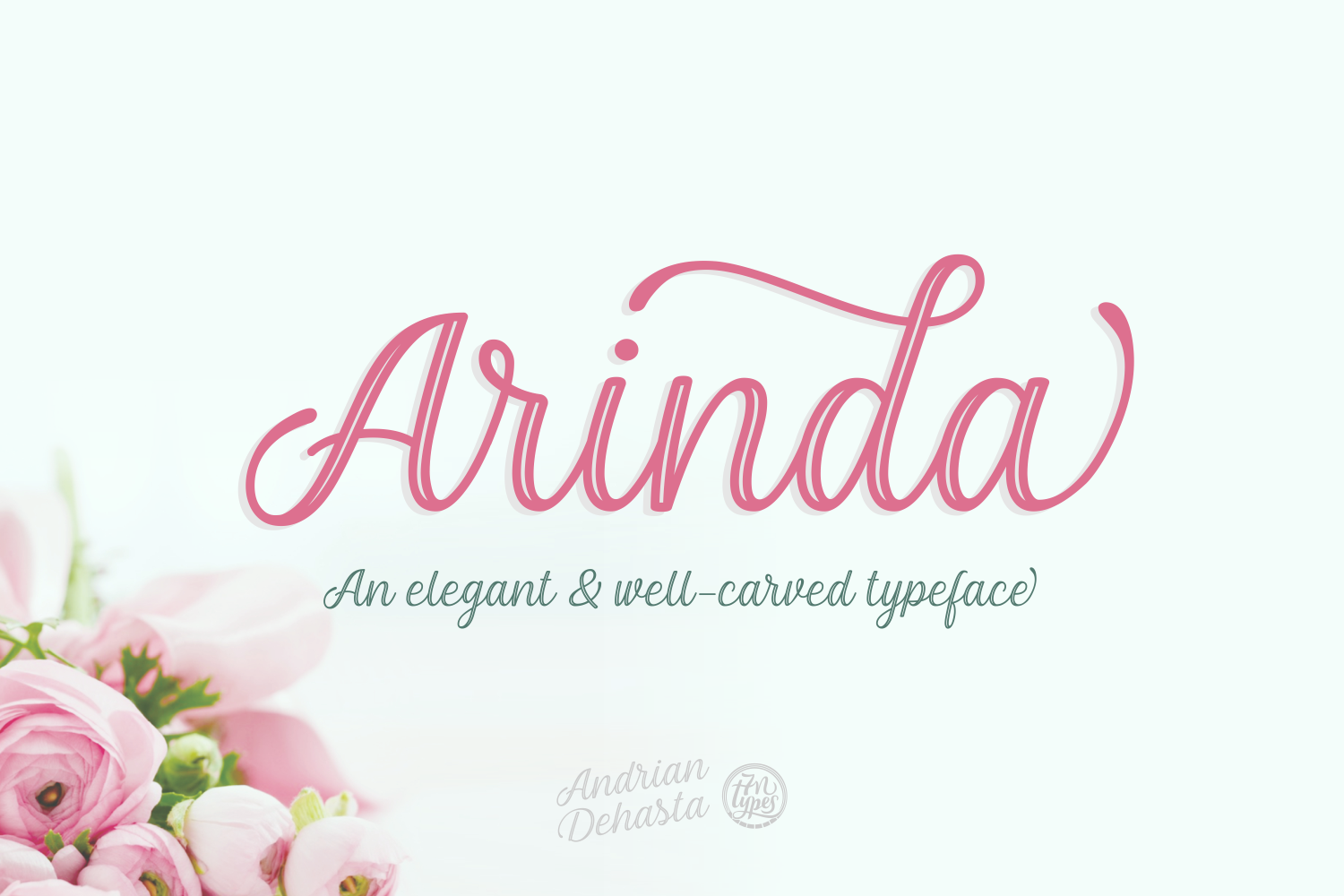 Print on Demand: Arinda Script & Handwritten Font By Andrian Dehasta - Image 1