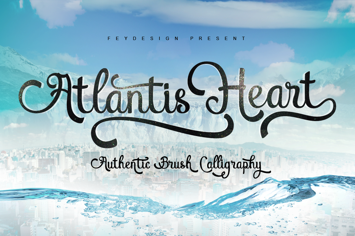 Print on Demand: Atlantis Heart Script & Handwritten Font By feydesign